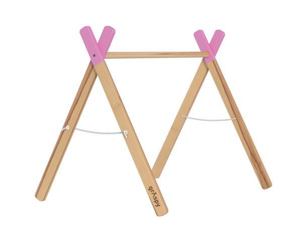 Развивающий мобиль для ребенка розового цвета