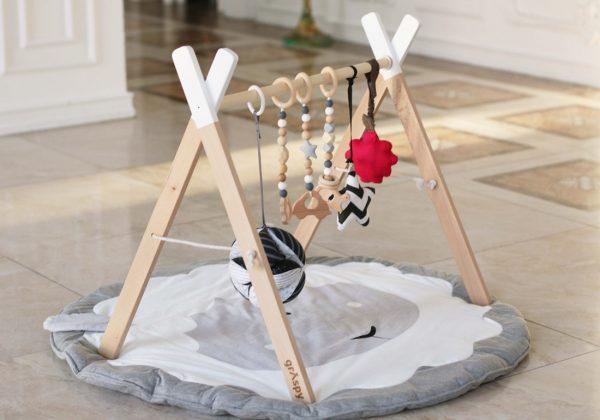 Детский тренажер граспи на коврике с такане и подвесами