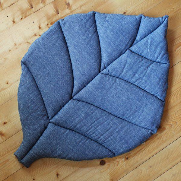 Игровой коврик листик синий