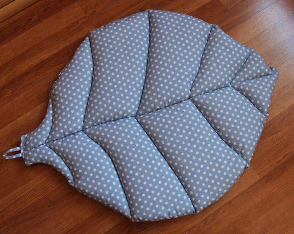 Игровой коврик листик серо-голубой