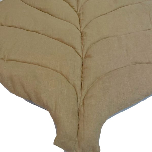 Коврик-листик серо-бежевый