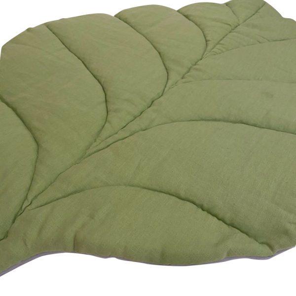 Коврик-листик серо-зеленый