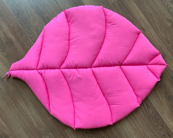 Коврик-листик ярко-розовый