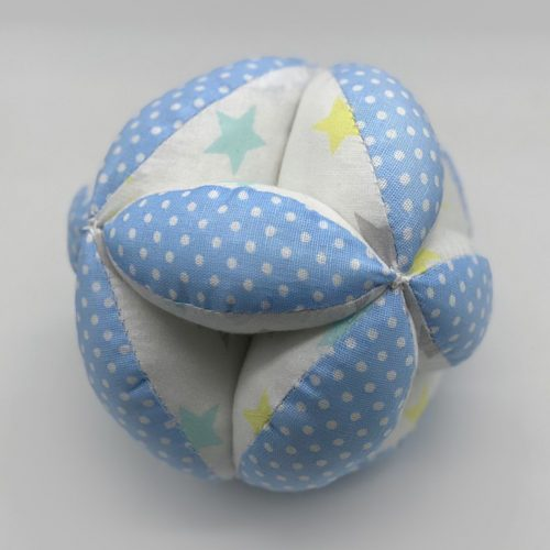 Мячик Такане голубой в горох со звездами