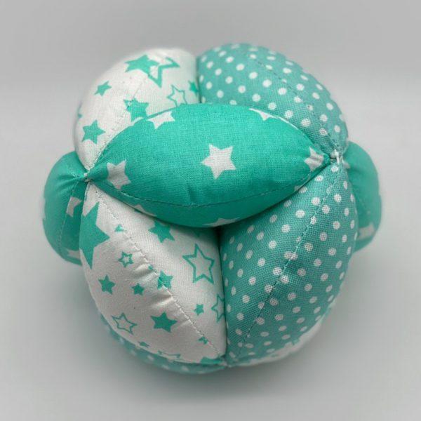 Мячик Такане зеленый в горох со звездами