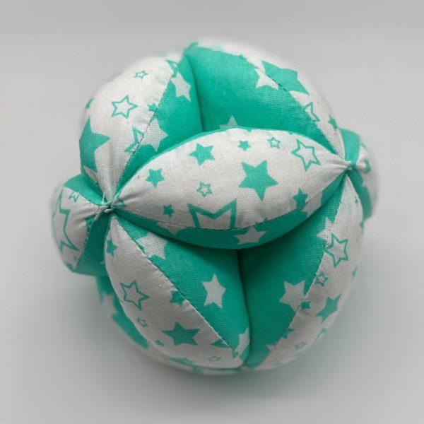 Мячик Такане бело-зеленый со звездами