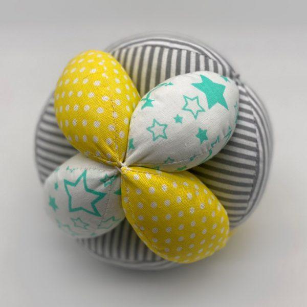 Мячик Такане желтый горох полосы и звезды