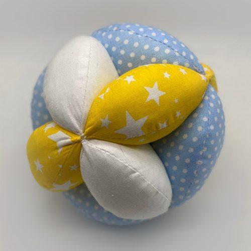 Мячик Такане желто-голубой