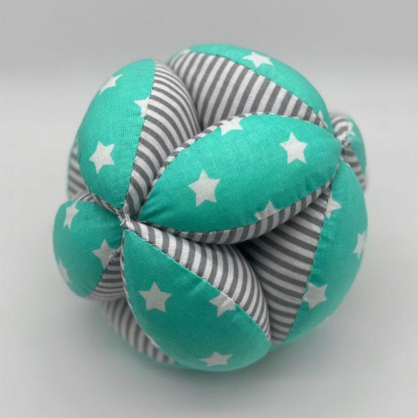 Мячик Такане зеленый с серыми полосками
