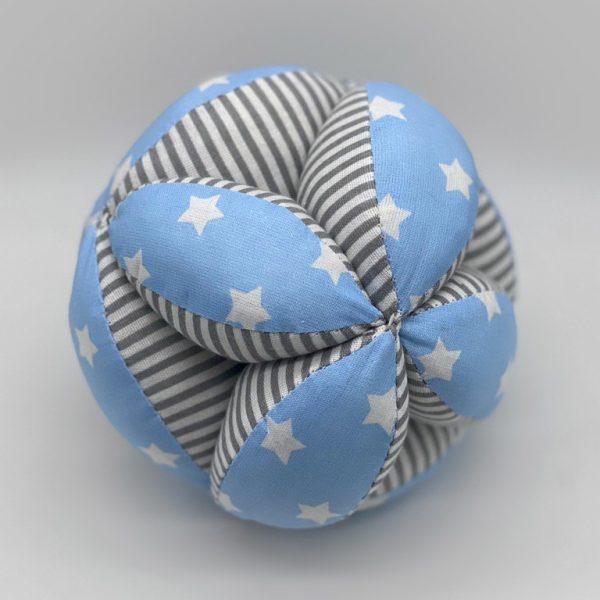 Мячик Такане синий с серыми полосками