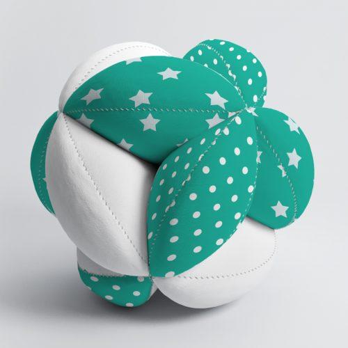 Мячик Такане зеленый горох и звезды