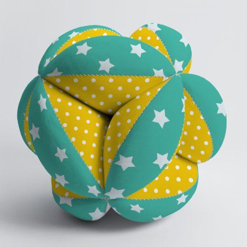 Мячик Такане зеленый с желтым