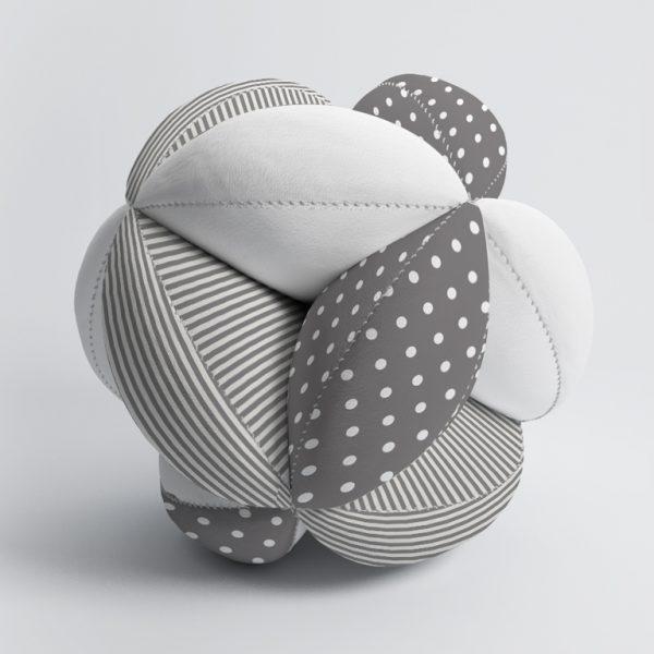Мячик Такане серый горох и полосы