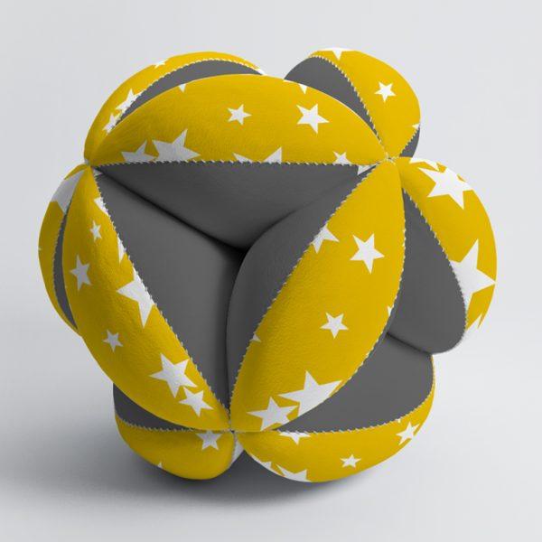 Мячик Такане серый и желтые звезды