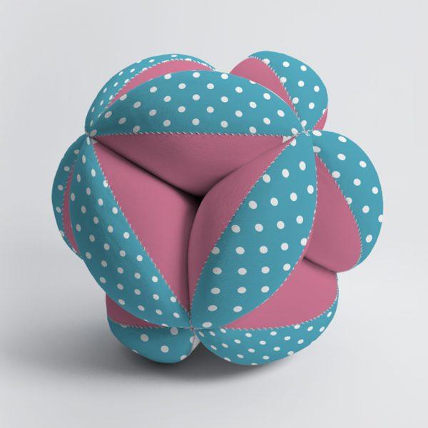 Мячик Такане розово-голубой