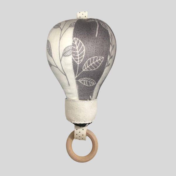 Подвес воздушный шар серо-белый