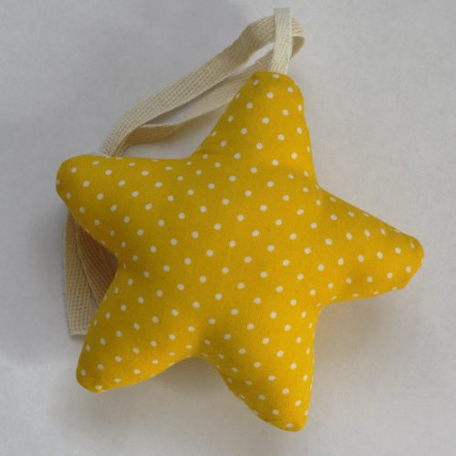 Мягкий подвес желтая звезда
