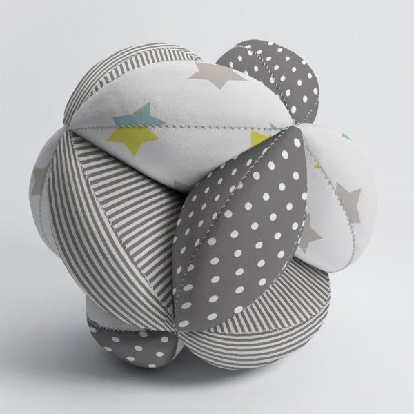 Мячик Такане серый со звездами
