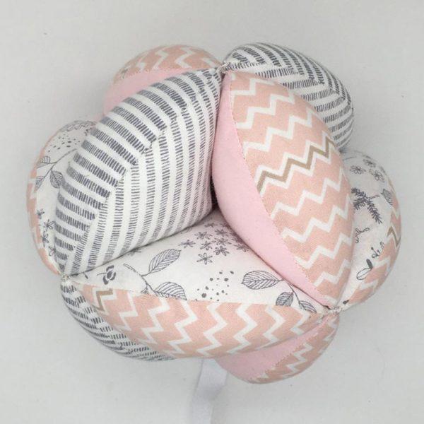 Мячик Такане серо-розовый